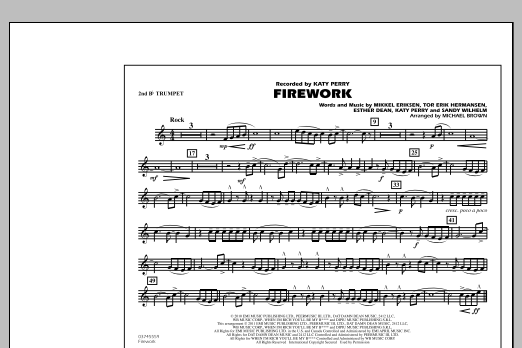 Firework - 2nd Bb Trumpet (Marching Band)