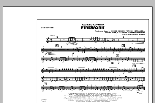Firework - 3rd Bb Trumpet (Marching Band)