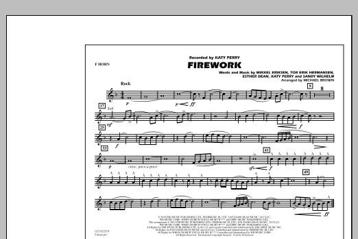 Firework - F Horn (Marching Band)