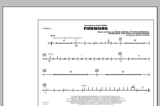 Firework - Cymbals (Marching Band)