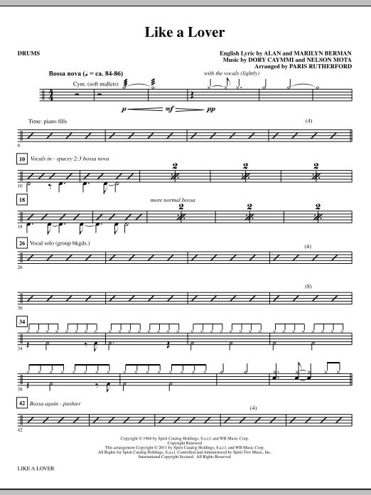Like A Lover - Drums (Choir Instrumental Pak)