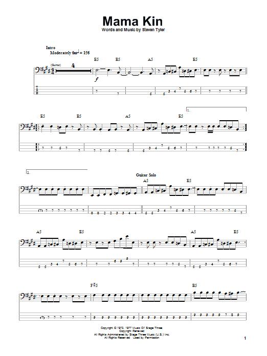 Mama Kin (Bass Guitar Tab)