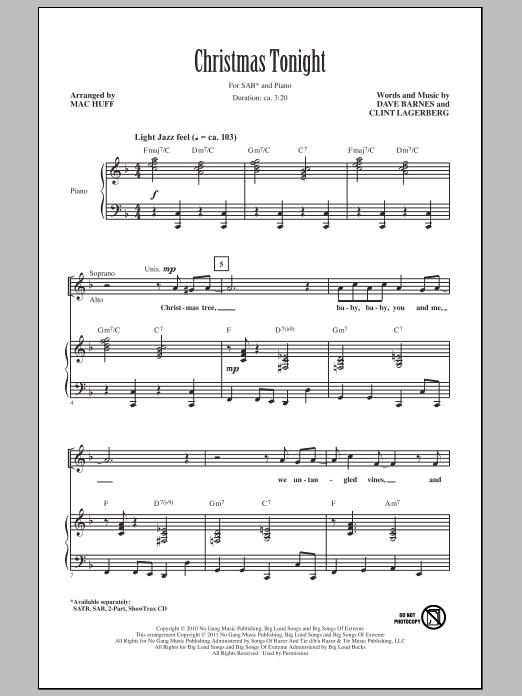 Christmas Tonight (SAB Choir)