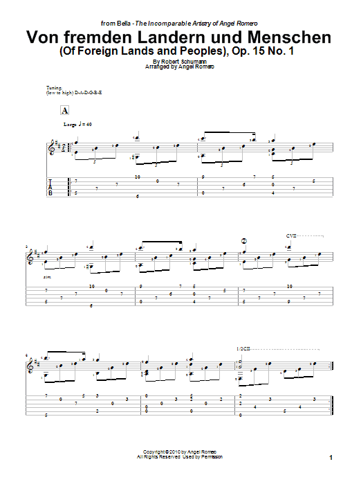 Von Fremden Landern Und Menschen (Of Foreign Lands and Peoples), Op. 15 No. 1 Sheet Music