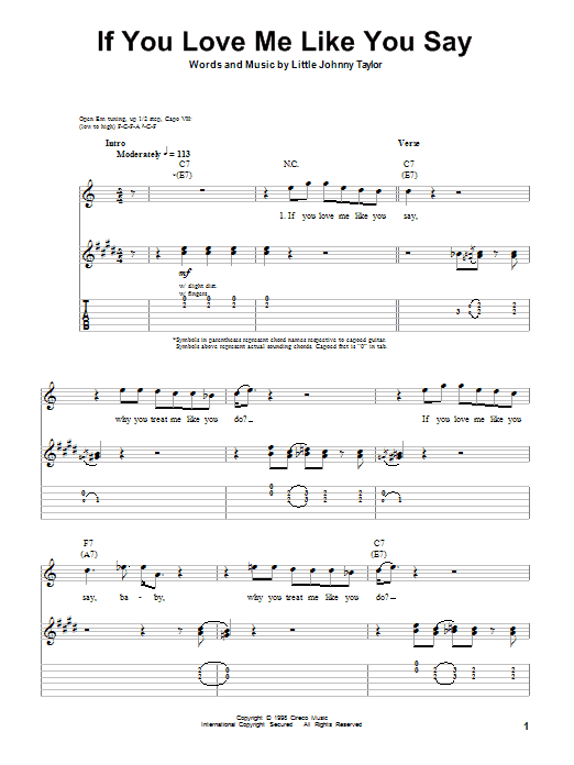 If You Love Me Like You Say Sheet Music