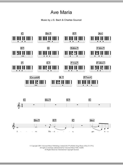 Ave Maria Charles Gounod Keyboard