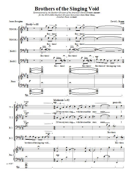 Brothers Of The Singing Void Sheet Music