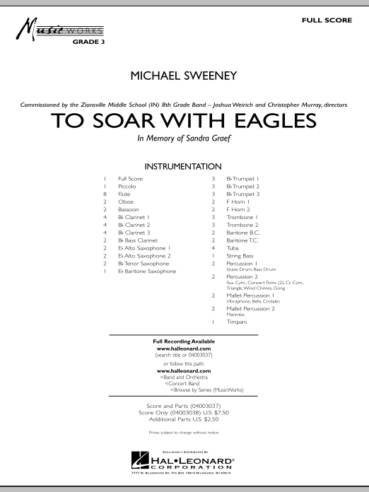 To Soar With Eagles (COMPLETE) sheet music for concert band by Michael Sweeney. Score Image Preview.