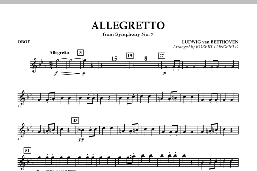Allegretto (from Symphony No. 7) - Oboe (Concert Band)