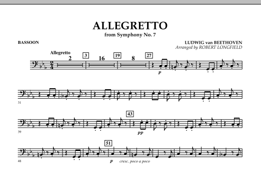 Allegretto (from Symphony No. 7) - Bassoon (Concert Band)