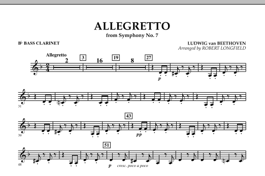 Allegretto (from Symphony No. 7) - Bb Bass Clarinet (Concert Band)