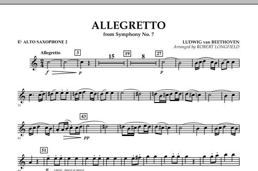 Allegretto (from Symphony No. 7) - Eb Alto Saxophone 2 (Concert Band)