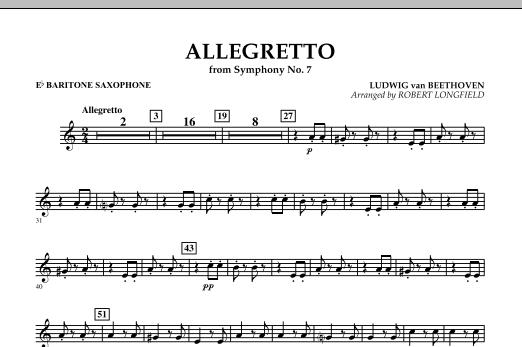 Allegretto (from Symphony No. 7) - Eb Baritone Saxophone (Concert Band)