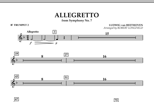 Allegretto (from Symphony No. 7) - Bb Trumpet 2 (Concert Band)