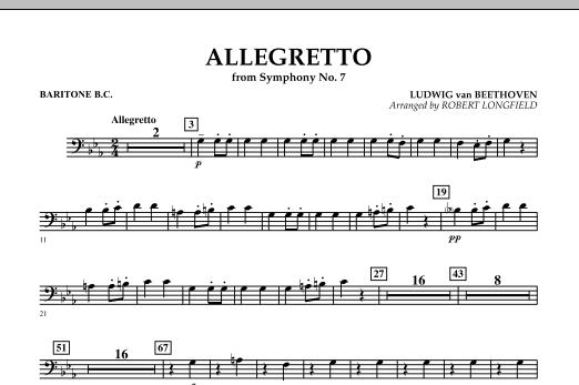 Allegretto (from Symphony No. 7) - Baritone B.C. (Concert Band)