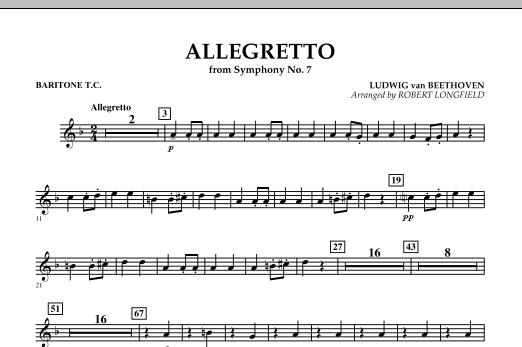 Allegretto (from Symphony No. 7) - Baritone T.C. (Concert Band)