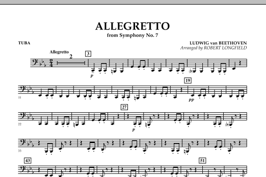 Allegretto (from Symphony No. 7) - Tuba (Concert Band)