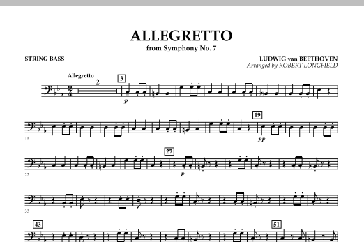 Allegretto (from Symphony No. 7) - String Bass (Concert Band)