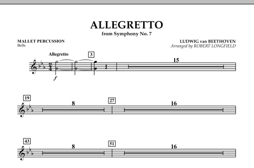 Allegretto (from Symphony No. 7) - Mallet Percussion (Concert Band)