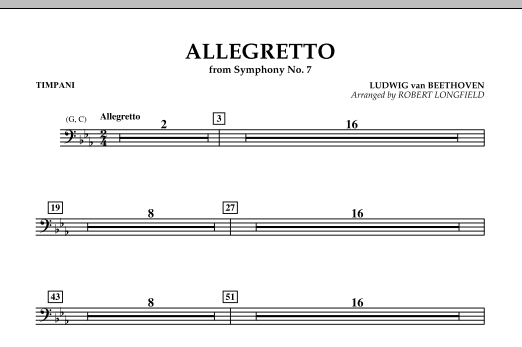 Allegretto (from Symphony No. 7) - Timpani (Concert Band)