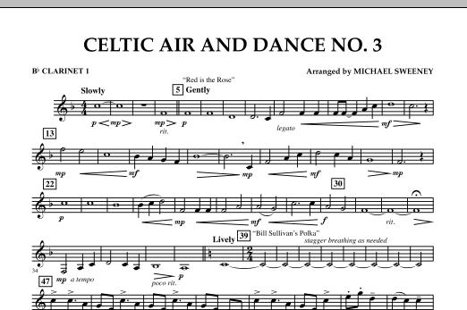 Celtic Air & Dance No. 3 - Bb Clarinet 1 (Concert Band)