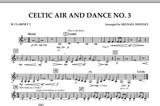 Celtic Air & Dance No. 3 - Bb Clarinet 2 (Concert Band)