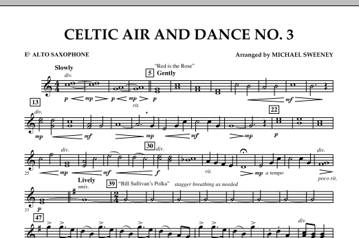 Celtic Air & Dance No. 3 - Eb Alto Saxophone (Concert Band)