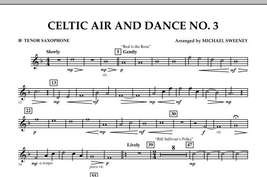 Celtic Air & Dance No. 3 - Bb Tenor Saxophone (Concert Band)