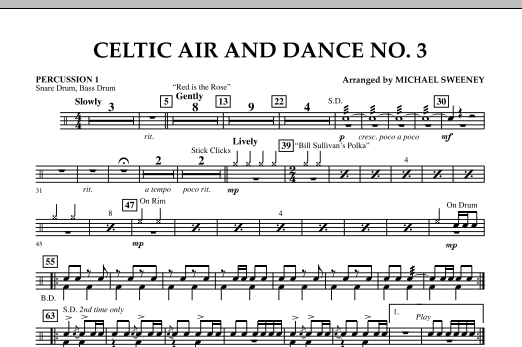 Celtic Air & Dance No. 3 - Percussion 1 (Concert Band)