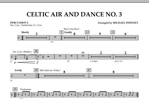 Celtic Air & Dance No. 3 - Percussion 2 (Concert Band)