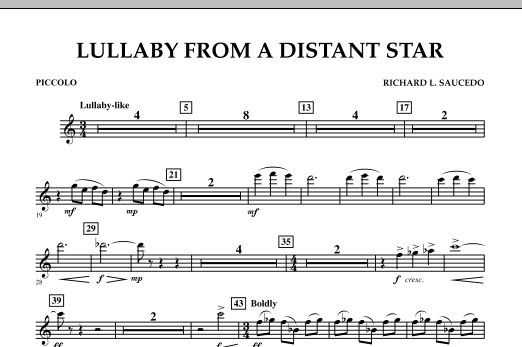 Lullaby From A Distant Star - Piccolo (Concert Band)