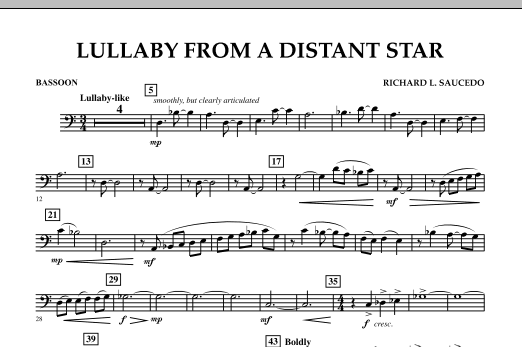 Lullaby From A Distant Star - Bassoon (Concert Band)