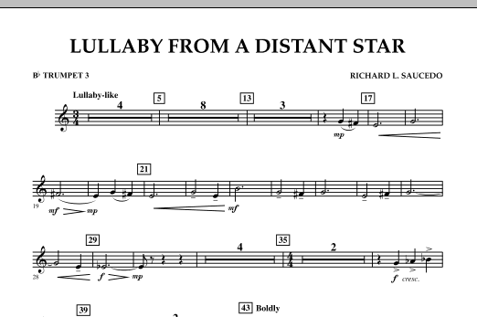 Lullaby From A Distant Star - Bb Trumpet 3 (Concert Band)
