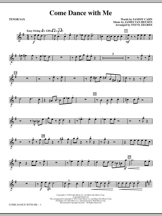 Come Dance With Me - Bb Tenor Saxophone (Choir Instrumental Pak)
