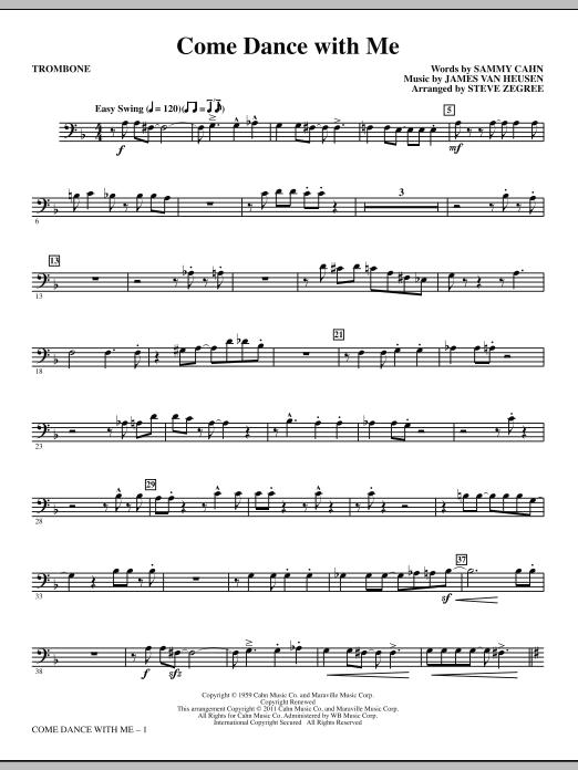 Come Dance With Me - Trombone (Choir Instrumental Pak)