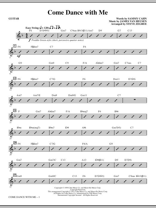 Come Dance With Me - Guitar (Choir Instrumental Pak)