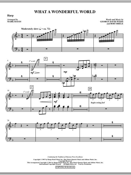 What A Wonderful World - Harp (Choir Instrumental Pak)