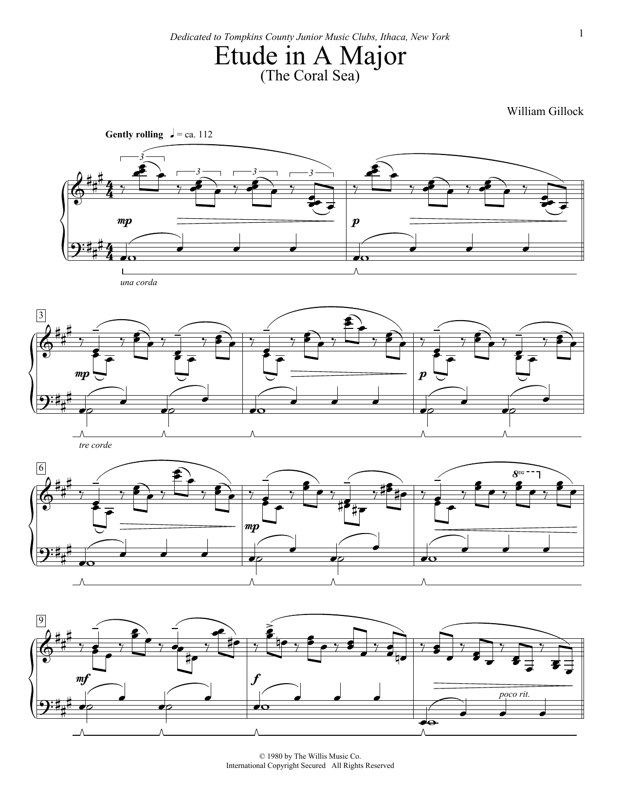 Classic Piano Repertoire - William Gillock - National Federation of Music Clubs 2020-2024 Selection by William L. Gillock