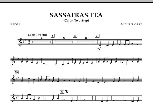 Sassafras Tea (Cajun Two-Step) - F Horn (Concert Band)