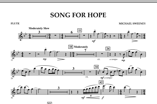 Song For Hope - Flute (Concert Band)