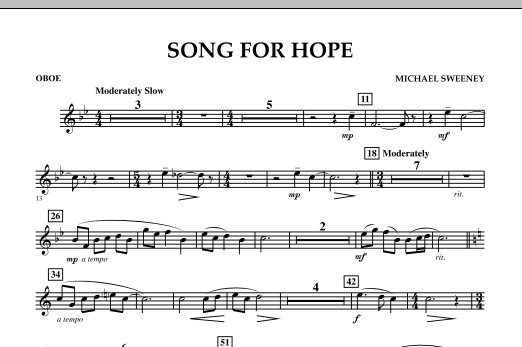 Song For Hope - Oboe (Concert Band)
