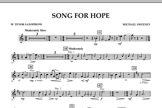 Song For Hope - Bb Tenor Saxophone (Concert Band)
