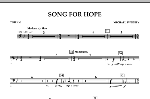Song For Hope - Timpani (Concert Band)