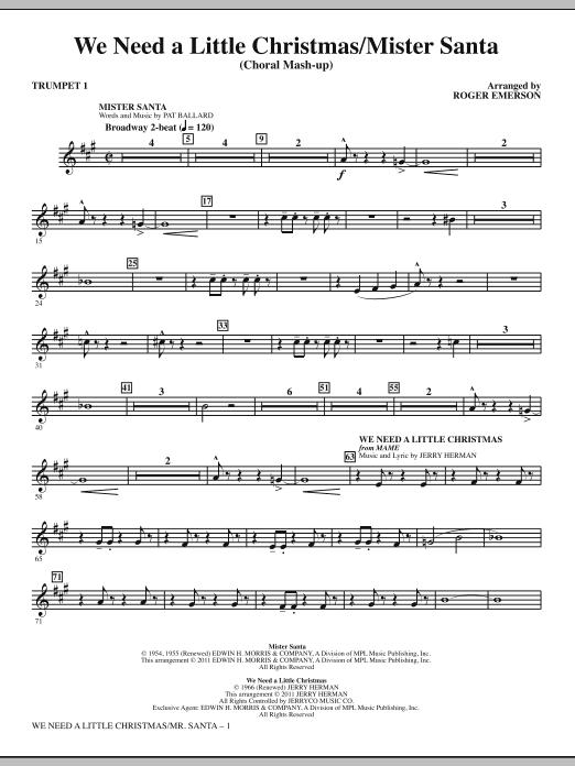 We Need a Little Christmas / Mister Santa - Bb Trumpet 1 (Choir Instrumental Pak)