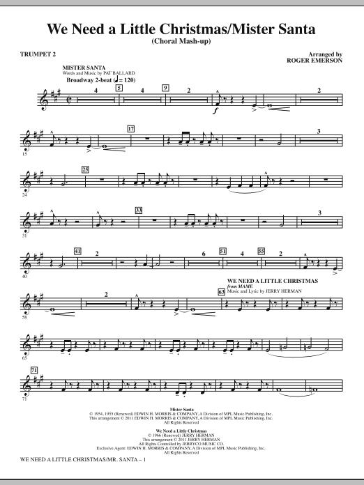 We Need a Little Christmas / Mister Santa - Bb Trumpet 2 (Choir Instrumental Pak)