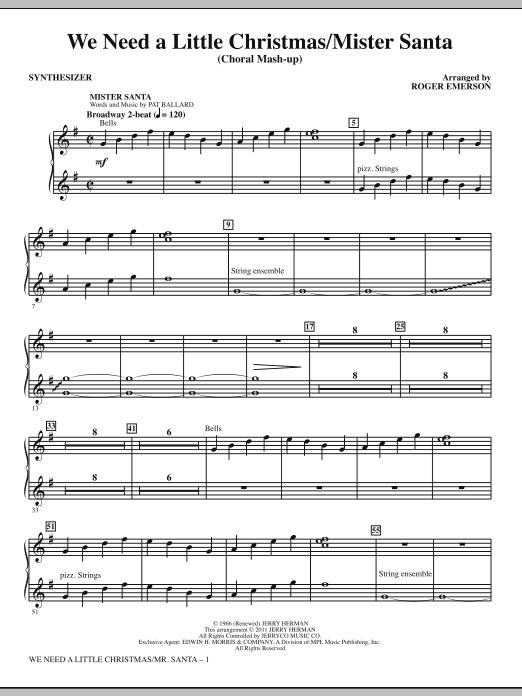 We Need a Little Christmas / Mister Santa - Synthesizer (Choir Instrumental Pak)