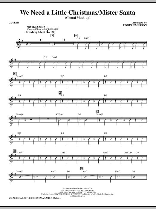 We Need a Little Christmas / Mister Santa - Guitar (Choir Instrumental Pak)