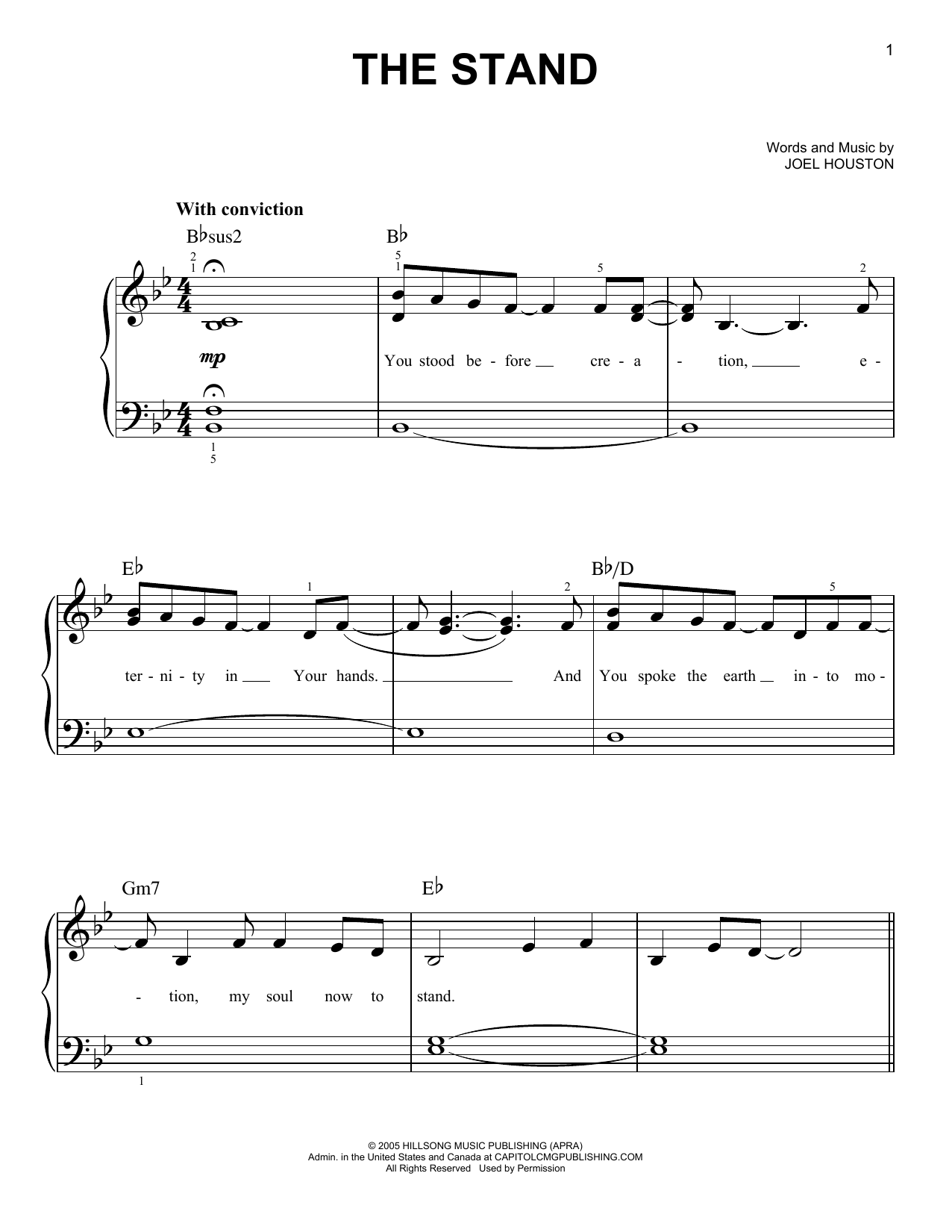 The Stand (Easy Piano)
