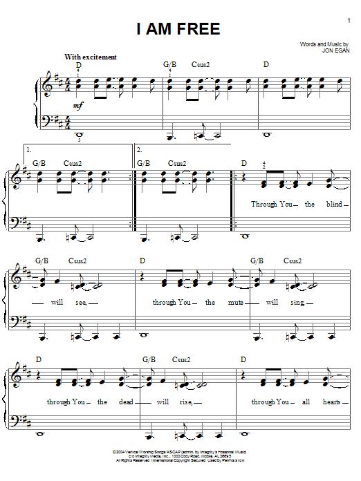 I Am Free (Easy Piano)