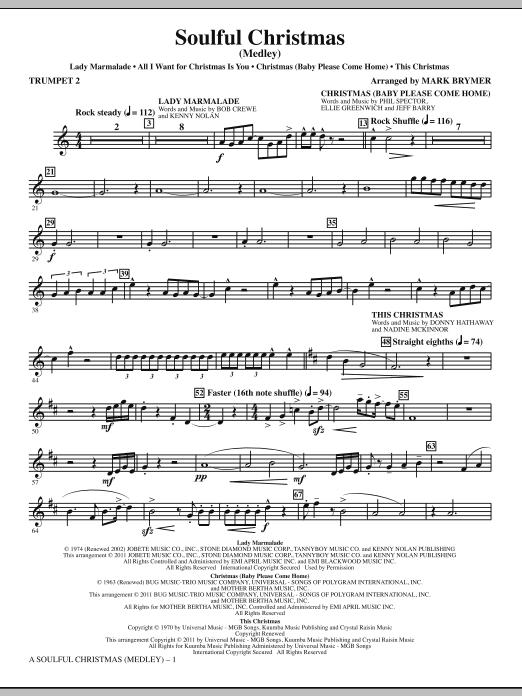A Soulful Christmas - Bb Trumpet 2 (Choir Instrumental Pak)
